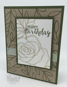 Elaine's Creations: Rose Wonder Birthday Card