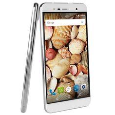 Maxwest Nitro 55M 4G 5.5 Touch Unlocked Quad Band GSM/WDCMA Dual-SIM Quad-Core 1.3GHz Smartphone Android 6.0 (White)