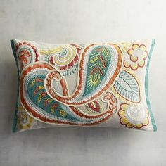Burnt oranges. Bright reds. Sunny yellows. Cool blues. Our happy paisley pillow mixes vibrant hues with traditional patterns. Color us impressed.