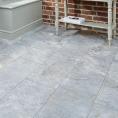 Colours Leggiero Blue Slate Tile Effect Laminate Flooring