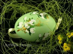 Duck egg hand painted by ArtWilk