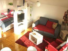 ワンルームレイアウト永遠の課題「リビングと寝室の2部屋に分けたい!」を、間仕切りでかなえましょ♫ | folk