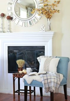 I'm all about simple fall touches to create a warm and inviting feel. The plaid throw and rope pillow are both current finds at HomeGoods. #homegoodshappy #sponsored