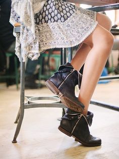 Dangy Black Ankle Boots By Free People