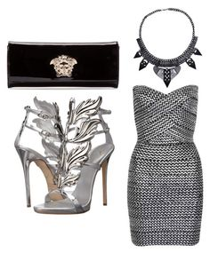 """""""Untitled #142"""" by viktoria-schach on Polyvore featuring Versace, WithChic, Giuseppe Zanotti, women's clothing, women's fashion, women, female, woman, misses and juniors"""