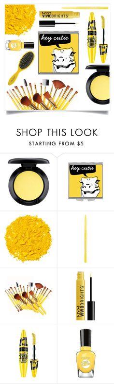 """Yellow"" by tina-pieterse ❤ liked on Polyvore featuring beauty, MAC Cosmetics, Illamasqua, Stila, Maybelline, Sally Hansen and Drybar"