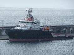 Heerema's nieuwste tug de Kolga. Gezien op 29 maart in Ponta Delgada op de Azoren