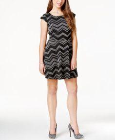 Trixxi Juniors' Striped Asymmetrical-Hem Sweater Dress - Dresses ...