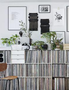 Beautiful white music/LP storage