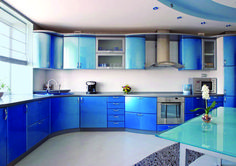 Modern blue and white kitchen cabinets white and blue kitchen cabinets blue modern kitchen with white Blue Kitchen Interior, Blue Kitchen Designs, Blue Kitchen Decor, New Kitchen, Kitchen Ideas, Glass Kitchen, Kitchen Layouts, Kitchen Modern, Kitchen Tile