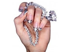 Diamond necklace and nails