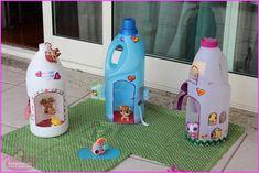 Casas para Little pet shop Little Pet Shop, Little Pets, Kids Crafts, Craft Projects, Recycling Projects, Craft Ideas, Ideas Paso A Paso, Diy Pour Enfants, Diy Plastic Bottle