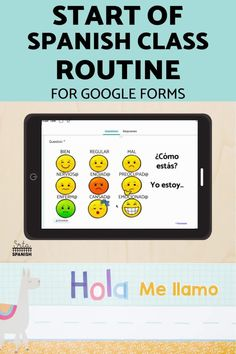 Here's a routine for the beginning of Spanish class! How to start your class each day with a check-in and Calendar Talk. Click to get started! This classroom routine is great for classroom management during Back to School or if you want to reset expectations with a new group of students! Use this routine to build relationships and vocabulary for feelings, days, months, dates, weather, and more! Check out this digital resource for use with Google Drive and Google Forms! Spanish Lesson Plans, Spanish Lessons, Middle School Spanish, Classroom Routines, Spanish 1, Teacher Notes, Spanish Classroom, Class Activities, Classroom Management