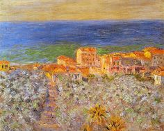 Burgo Marina at Bordighera Claude Monet Fecha: 1884 Estilo: Impresionismo Género: paisaje urbano Claude Monet, Landscape Art, Landscape Paintings, Pierre Auguste Renoir, Artist Monet, Monet Paintings, Art Japonais, Manet, Impressionist Paintings