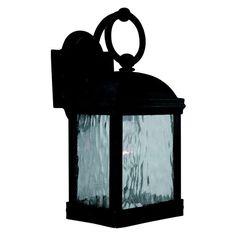 Sea Gull Branford Outdoor Wall Lantern - 14H in. Obsidian Mist - 88190-802