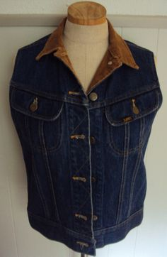 Vintage 80s Lee Denim Jean Vest by nanapatproject on Etsy, $26.00