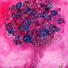 Tree of Life Pink Swirl Painting by Christy Freeman - Tree of Life Pink Swirl Fine Art Prints and Posters for Sale