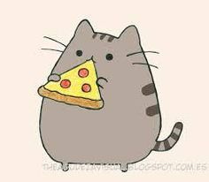 Pusheen cat #cute nice - pizza