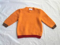 BOY'S BABY IL GUFO EURO BOUTIQUE TOO CUTE!! COLOR BLOCK WOOL KNIT SWEATER TOP 6M