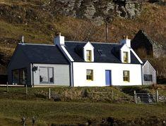 Burnside, Elgol, Isle of Skye Bungalow Renovation, Farmhouse Renovation, Dormer House, Rendered Houses, Cottage Extension, Yoga Studio Design, Rural House, Bothy, Fancy Houses