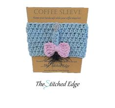 Crochet Cotton Coffee Sleeves Eeyore Inspired by TheStitchedEdge, $8.00