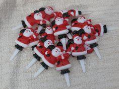 24 Santa Claus Cupcake Picks Cake Toppers Christmas Decorations Baker Crafts  #BakeryCrafts #Christmas