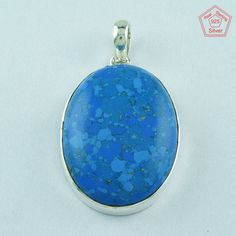 Oval Shaped 925 Sterling Silver Cooper Turquoise Pendant Jewelry P2743 #SilvexImagesIndiaPvtLtd #Pendant