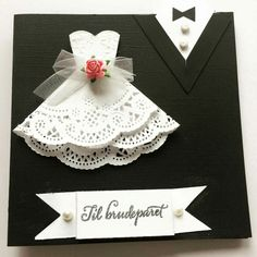 Wedding Card, Mr and Mrs, Bride and Groom Congratulations Card, Tuxedo - Wedding Gown Card, to my daughter on her wedding day Wedding Cards Handmade, Greeting Cards Handmade, Wedding Gifts, Card Wedding, Scrapbooking Original, Craft Gifts, Diy Gifts, Dress Card, Wedding Anniversary Cards