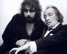What a picture! Vangelis with his famous superfan Salvador Dali in 1971.