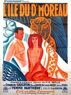 ISLAND OF LOST SOULS / BELA LUGOSI / 1932 / C. KENTON / PERON MOVIE POSTER.......