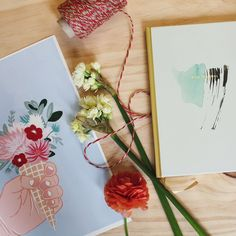 Gift idea #1: Waffle Cone print and Mint Journal. Shop these items at wildwagon.co.nz  #wildwagonco