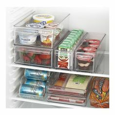 Crate Fridge organizers! How nice does this look! no more Things going bad in the back of the fridge @ Pin For Your Home