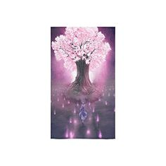 """Beautiful Cherry Blossom Tree, Sakura Flower Pattern Custom Beach Hotel Travel Washcloth Hand Towel Warmer Soft and Comfortable 80% Polyester 20% Cotton, (16\"""" x 28\"""") ** Want additional info? Click on the image."""