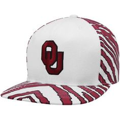 5d3d070ffa7 Top of the World Oklahoma Sooners White-Crimson Zubaz Primetime Snapback  Adjustable Hat