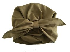 Turban with Tie - Khaki Green