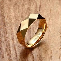 Fashion Silver/Gold /Rose Gold Color Tungsten Steel Men women Ring Wedding Party Finger Rings For Male Cool High end Jewelry Unique Diamond Rings, Delicate Rings, Unique Rings, Mens Gold Rings, Rings For Men, Bridal Rings, Wedding Rings, Gold Ring Designs, Mens Ring Designs