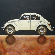 163 VW Beetle   signed and numbered giclee print of a by edart, $18.00