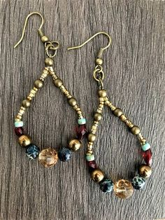 Teardrop Earrings Boho Beaded Earrings Beaded Earrings
