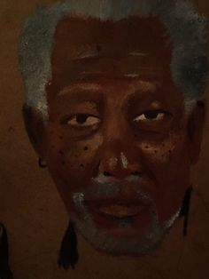 Morgan freeman oil paint
