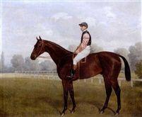 Weathercock with jockey up by Emil Adam