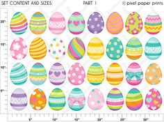 Easter Eggs Clipart Clip art and Digital paper set Digital Easter Egg Designs, Clip Art, Easter Printables, Photoshop Elements, Project Yourself, Patch, Easter Crafts, Art Images, Painted Rocks
