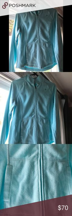 Lilly Pulitzer zip up Lilly Pulitzer lovely shade of blue one from last year has been worn with love excellent condition Lilly Pulitzer Jackets & Coats Utility Jackets
