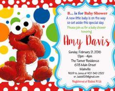 Elmo Sesame Street Baby Shower Invitation by PrettyPaperPixels Elmo Sesame Street, Sesame Street Birthday, Elmo Bebe, Baby Shower Themes, Shower Ideas, Baby Elmo, Monster Baby Showers, Elmo Birthday, Printable Baby Shower Invitations