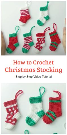 How to Crochet Easy Christmas Stocking - Crochet Kingdom