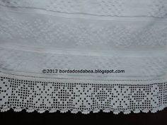 Bordados e afins: Toalha de rosto com bordado em ilhós