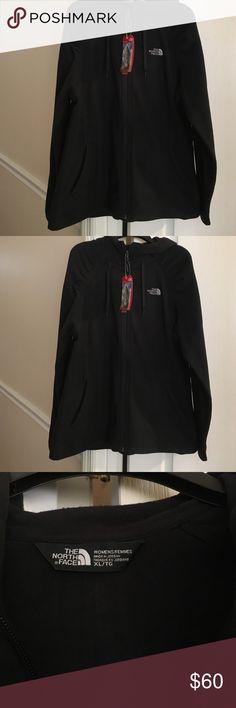 Black North Face Hoodie  Fleece Jacket XL NWT NWT Ladies Black Fleece Jacket XL The North Face Jackets & Coats