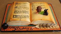 Jessicakes How To Make An Open Book Cake Inspirations