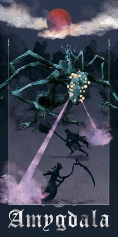 Bloodborne - Fighting Amygdala Art Print by galtocolor - X-Small Gothic Horror, Horror Art, Dark Souls, Dark Fantasy, Fantasy Art, Bloodborne Art, Old Blood, Nerd Art, Games