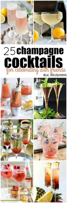 nice No matter what time of year it is, these 25 Champagne Cocktails for Celebrating with Friends are sure to make your gathering extra special! Champagne Drinks, Wine Cocktails, Summer Cocktails, Cocktail Drinks, Cocktail Recipes, Alcoholic Drinks, Beverages, Disaronno Cocktails, Bourbon Drinks