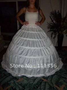 A Special Wedding Dress Slip With Crinoline Tulle Forming Bustle For That Perfect Shape